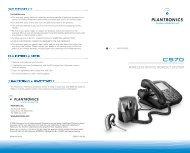 CS70 User Guide - Plantronics