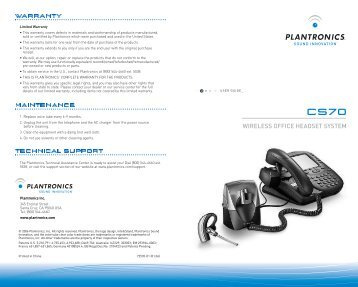 Plantronics cs70/cs70n wireless headset common ask questions faq.