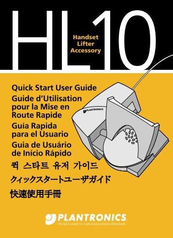 Quick Start Guide Guide de Mise en Route - Plantronics