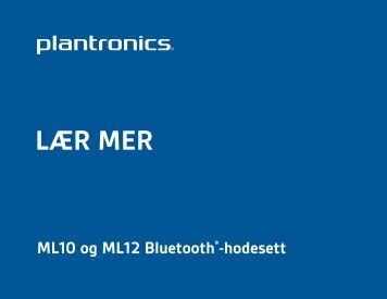 LÆR MER - Plantronics