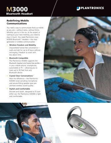 M3000 Bluetooth Headset - Plantronics