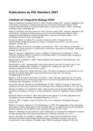 PSC Publication List 2007 - Zurich-Basel Plant Science Center