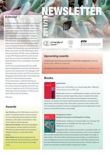 Newsletter 19, Spring 2011 (PDF 2.4 MB) - Zurich-Basel Plant ...