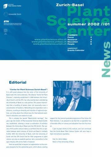 Newsletter 01, Summer 2002 (PDF 1.2 MB) - Zurich-Basel Plant ...