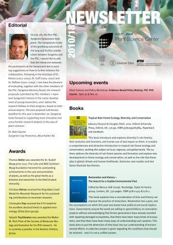 Newsletter 18, Autumn 2010 (PDF 1.2 MB) - Zurich-Basel Plant ...