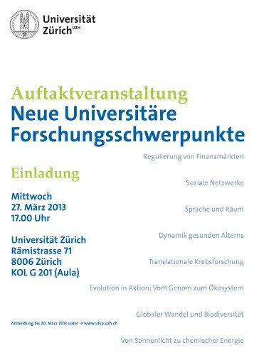 Auftaktveranstaltung - Universität Zürich