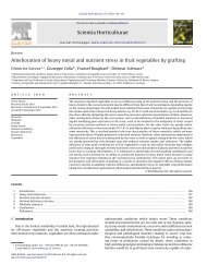 Amelioration of heavy metal and nutrient stress in ... - Plantstress.com