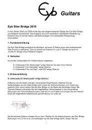 Sitar bridge Info 2010 - Eyb Guitars & Basses