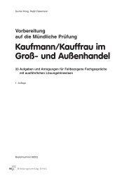 Vorbereitung auf die Mündliche Prüfung Kaufmann/Kauffrau im Groß