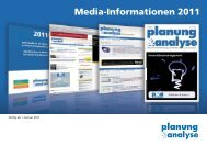 Media-Informationen 2011 - Planung & Analyse