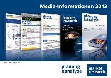 Mediadaten - Planung & Analyse