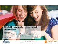 Studie Kundenbindungsforschung in Deutschland - Planung ...