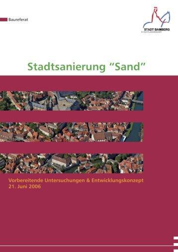 """Stadtsanierung """"Sand"""" - Stadtplanungsamt - Bamberg"""