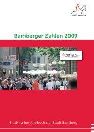 Bamberger Zahlen 2009 - Stadtplanungsamt - Bamberg