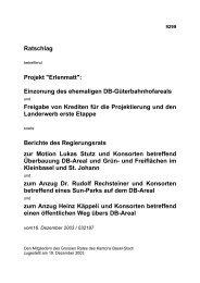 """Ratschlag betreffend Projekt """"Erlenmatt"""" - Planungsamt - Kanton ..."""