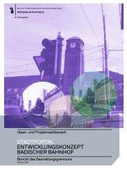 Wettbewerbsbericht - Planungsamt - Basel-Stadt