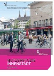 Kurzfassung: Broschüre Nutzerstudie - Planungsamt - Basel-Stadt