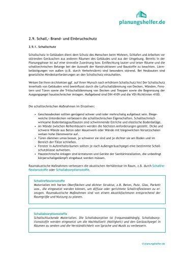 Schutzmassnahmen - Planungshelfer.de