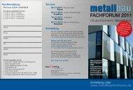 Zukunftsmarkt Metallbau« - esco Metallbausysteme Gmbh