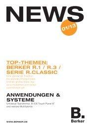 Berker r.1 / r.3 / Serie r.claSSic anwendungen & SySTeme