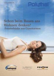 Polythal Fensterbänke aus Gussmarmor - Plaschna & Co. GmbH ...