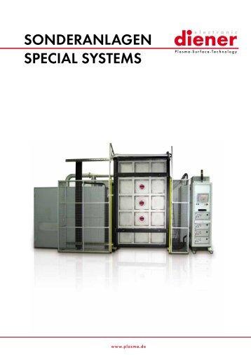 Prospekt Sonderanlagen - Diener electronic GmbH + Co. KG