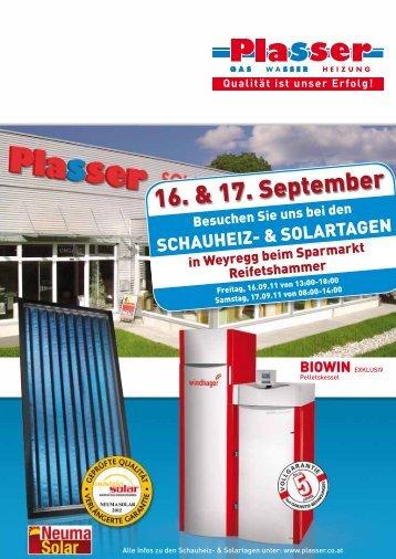 16. & 17. September - Plasser Installationen