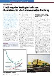 Erhöhung der Verfügbarkeit von Maschinen für ... - Plasser & Theurer