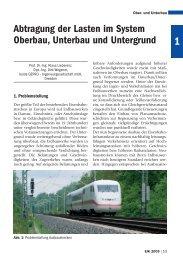 Abtragung der Lasten im System Oberbau ... - Plasser & Theurer