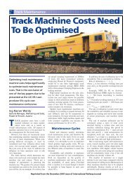 Track Machine Costs Need To Be Optimised - Plasser & Theurer