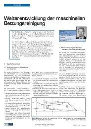 Weiterentwicklung der maschinellen ... - Plasser & Theurer