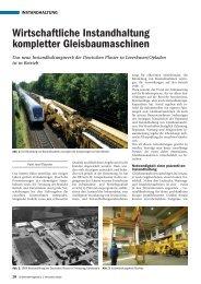 Wirtschaftliche Instandhaltung kompletter ... - Plasser & Theurer