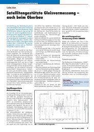 Satellitengestützte Gleisvermessung – auch ... - Plasser & Theurer