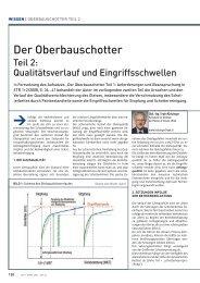Der Oberbauschotter - Teil 2: Qualitätsverlauf ... - Plasser & Theurer