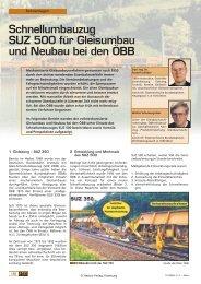 Schnellumbauzug SUZ 500 für Gleisumbau und ... - Plasser & Theurer