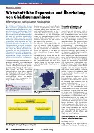 Wirtschaftliche Reparatur und Überholung von ... - Plasser & Theurer