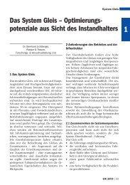 Das System Gleis – Optimierungs- potenziale ... - Plasser & Theurer