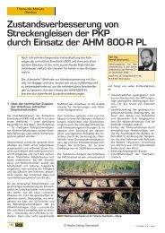 Zustandsverbesserung von Streckengleisen der ... - Plasser & Theurer