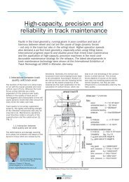 High-capacity, precision and reliability in track ... - Plasser & Theurer