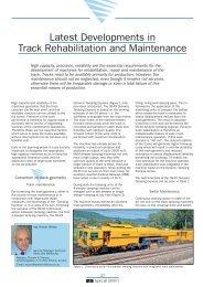 Latest Developments in Track Rehabilitation ... - Plasser & Theurer