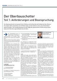Der Oberbauschotter - Teil 1: Anforderungen ... - Plasser & Theurer