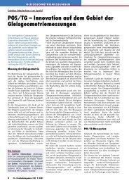 POS/TG – Innovation auf dem Gebiet der ... - Plasser & Theurer