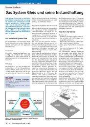 Das System Gleis und seine Instandhaltung - Plasser & Theurer
