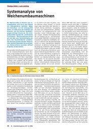Systemanalyse von Weichenumbaumaschinen - Plasser & Theurer