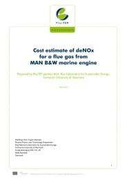 Cost estimate of deNOx for a flue gas from MAN B&W ... - PlasTEP