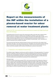Test, investigation and feasibility report on installations on ... - PlasTEP
