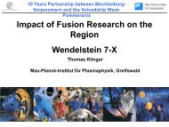 Impact of fusion research for the region - PlasTEP