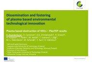 Plasma-based destruction of VOCs, PlasTEP results