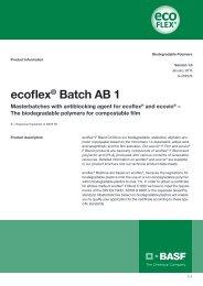 Ecoflex Batch AB 1 - Data sheet - BASF Plastics Portal