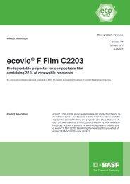 Ecovio F Film C2203 - Product data sheet - BASF Plastics Portal